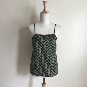 Zara Collection Black Abstract Print Tank Medium